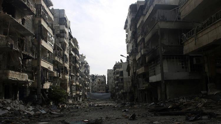 صورة أرشيفية من حي صلاح الدين جنوب حلب