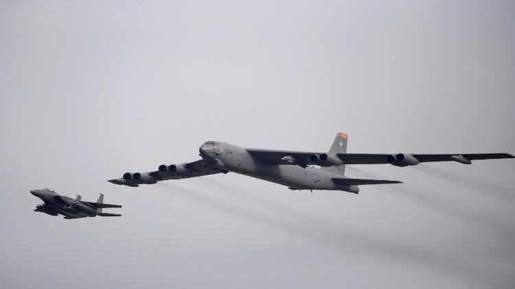 تحليق قاذفتين أمريكيتين فوق شبه الجزيرة الكورية