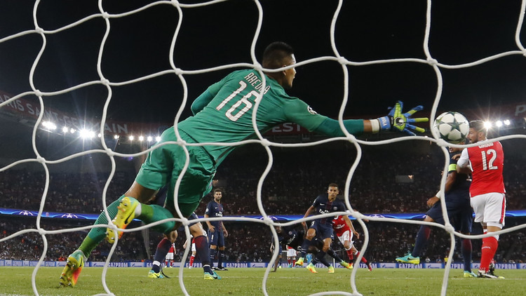 باريس سان جيرمان يتعادل مع أرسنال في أبطال أوروبا