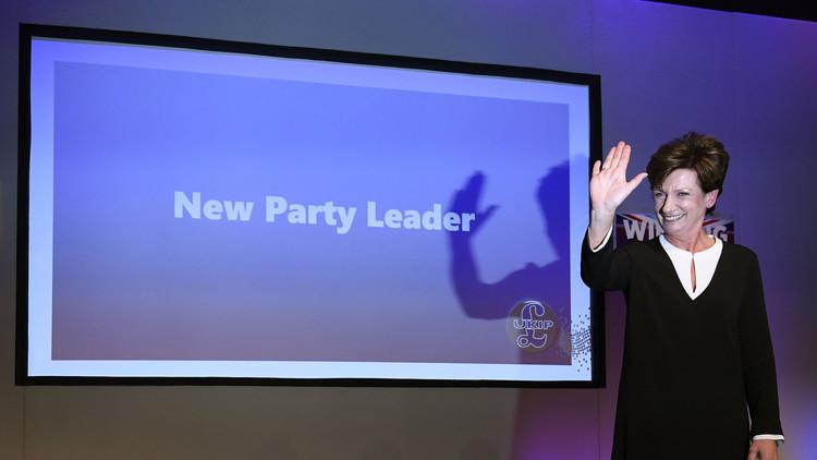 انتخاب زعيمة لحزب الاستقلال البريطاني
