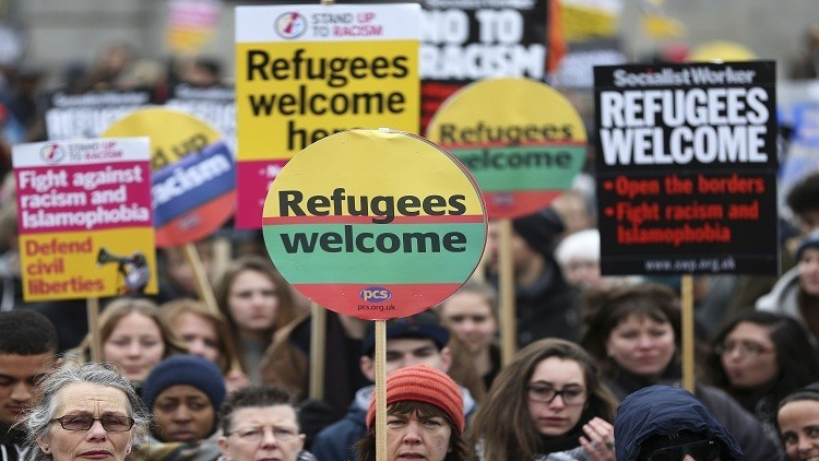 20 ألف متظاهر في لندن تأييدا للاجئين