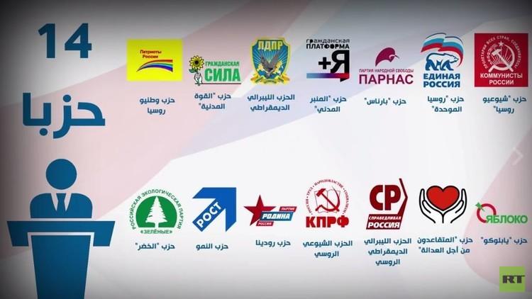 قادة الأحزاب الروسية يصوتون في انتخابات