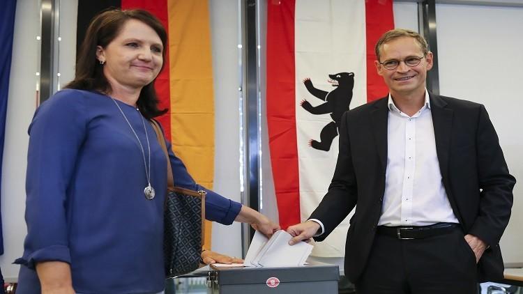 الناخبون يقترعون في انتخابات برلمانية ببرلين