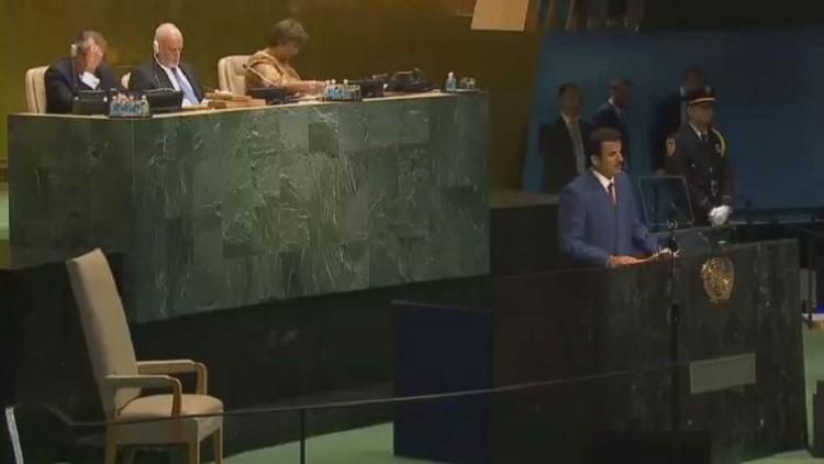 أمير قطر: إسرائيل تكرس للاستيطان في القدس والضفة