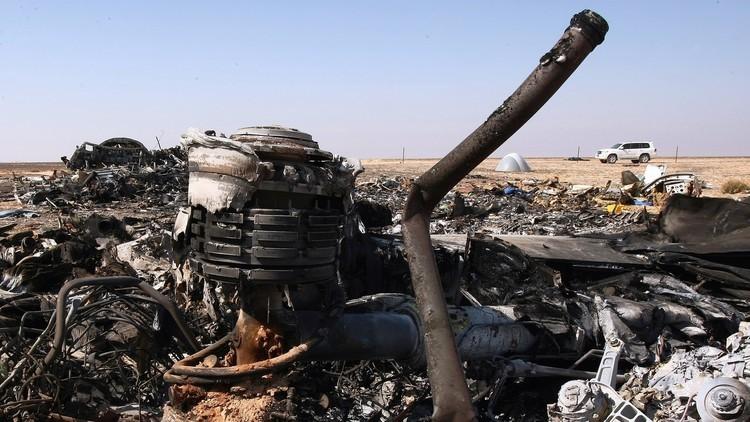 خبراء يحددون مكان تأثير الانفجار على هيكل الطائرة الروسية المنكوبة