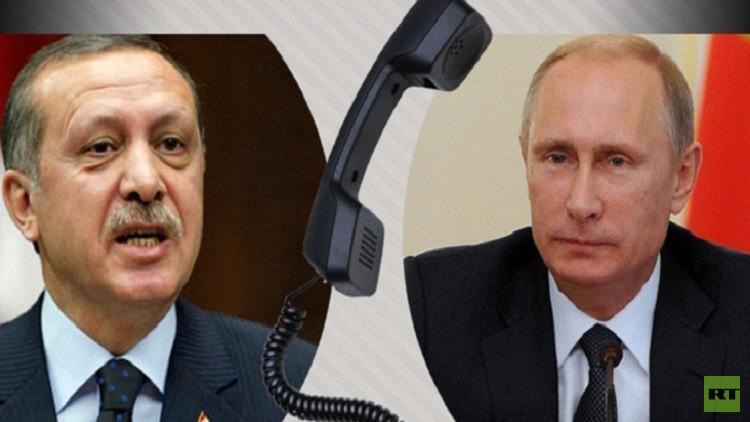 بوتين وأردوغان يبحثان هاتفيا مسألة التسوية السورية