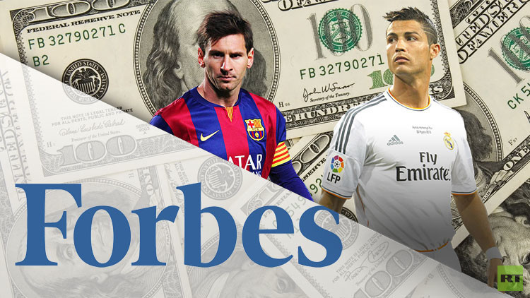 فوربس تعلن اللاعب الأكثر دخلا بين رونالدو وميسي