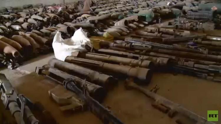 خاص لـRT: مستودع سلاح هائل لداعش !