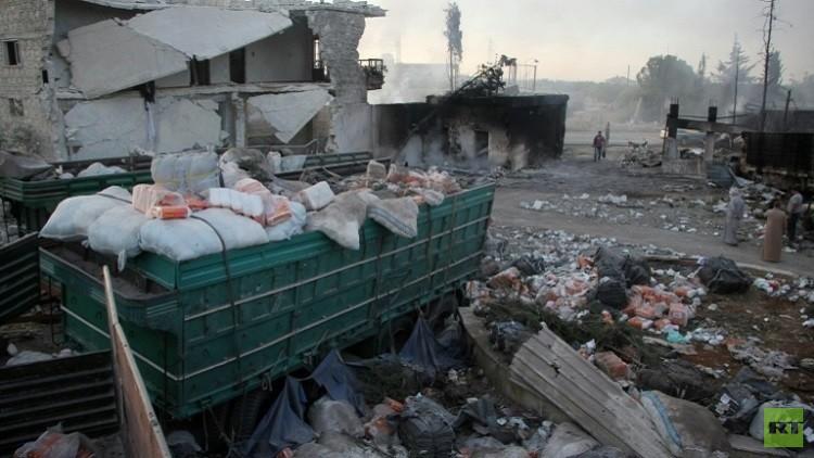 تدمير القافلة الإنسانية في سوريا – من صنع يدي