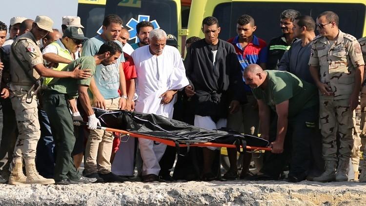ارتفاع عدد ضحايا مركب رشيد الغارق إلى 204 قتلى