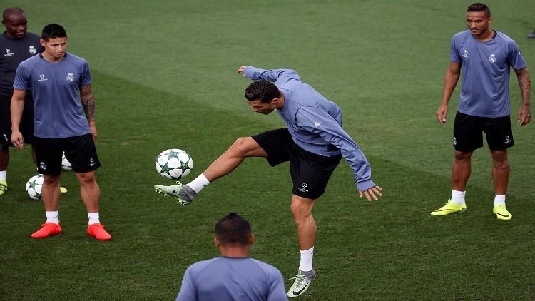 رونالدو يظهر غضبه في التدريبات بعد أزمته مع زيدان