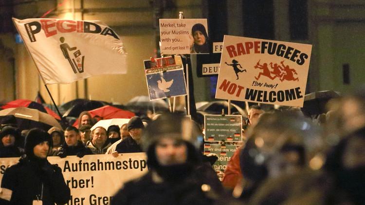 الألمان يفرون من اللاجئين