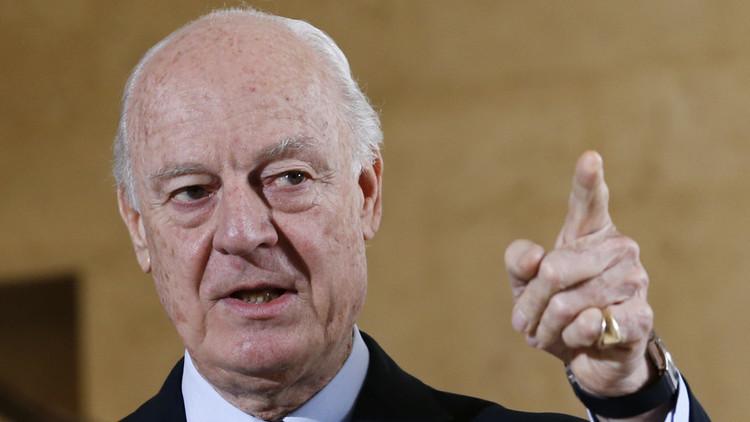دي ميستورا: من الصعب استئناف المفاوضات مع استمرار القصف في سوريا