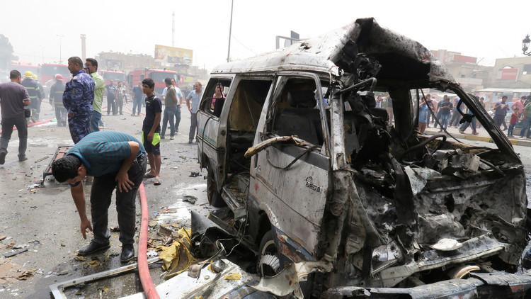 قتلى وجرحى بتفجير مزدوج في مدينة الصدر شرقي بغداد