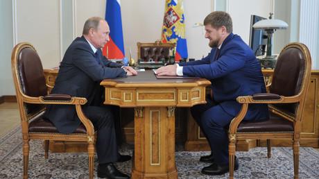 الرئيس الشيشاني رمضان قديروف والرئيس الروسي فلاديمير بوتين