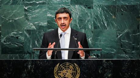 وزير الخارجية الإماراتي عبد الله بن زايد آل نهيان يتهم إيران أمام الجمعية العامة بتقويض أمن الشرق الأوسط