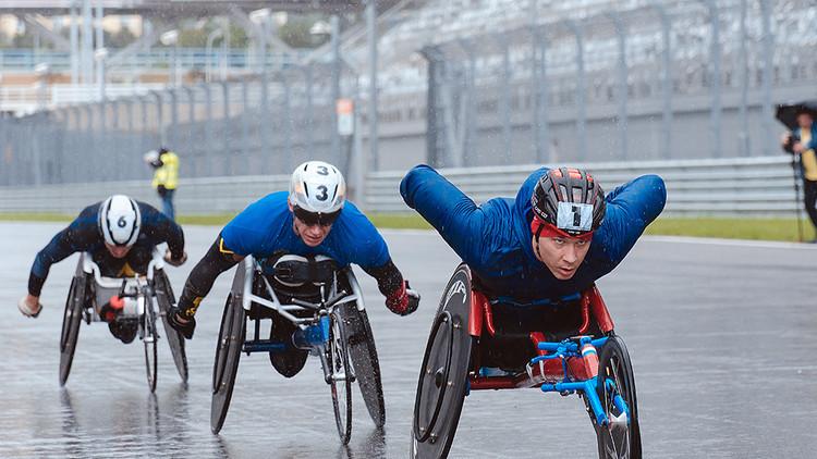 اختتام سباق الكراسي المتحركة في سوتشي