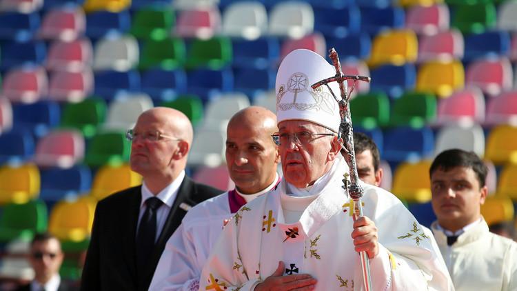 مقاطعة أرثوذكسية لقداس البابا في جورجيا