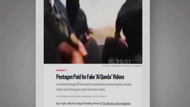 تقرير: البنتاغون فبرك فيديوهات عن العراق