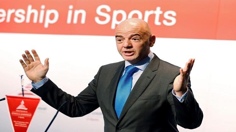 إنفانتينو يقترح إقامة كأس العالم بمشاركة 48 منتخبا