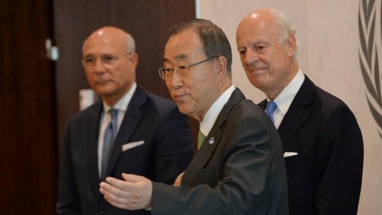 بان كي مون يدعو موسكو وواشنطن لاستئناف المفاوضات حول سوريا