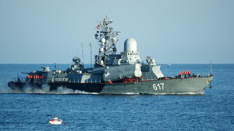 سفينة صاروخية روسية جديدة تبحر إلى سوريا