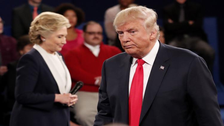 ترامب يتوعد كلينتون بالسجن إذا فاز بالرئاسة