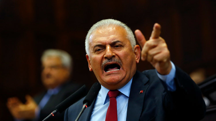 يلدريم يهاجم كلينتون بسبب دعمها لأكراد سوريا