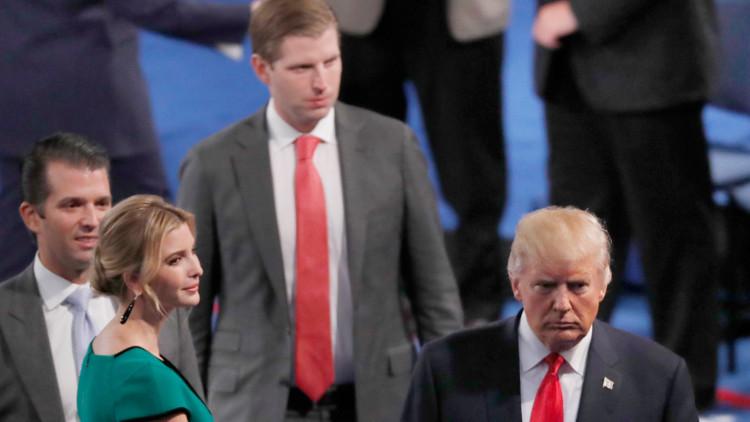 نجل ترامب: تصريحات والدي حول النساء غير مقبولة