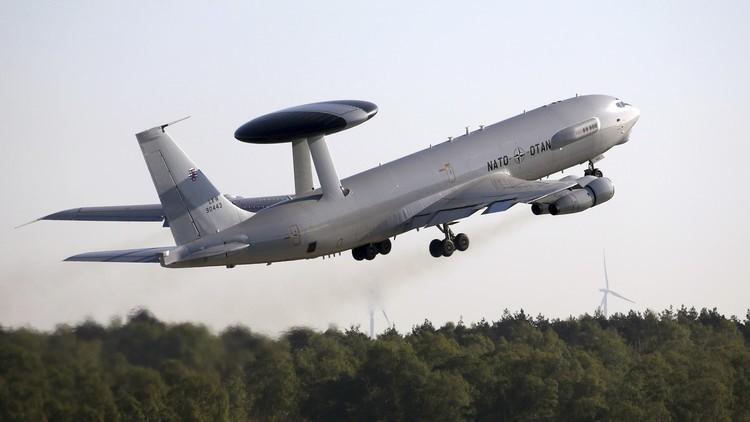 طائرة أواكس تابعة للناتو تصل إلى ليتوانيا