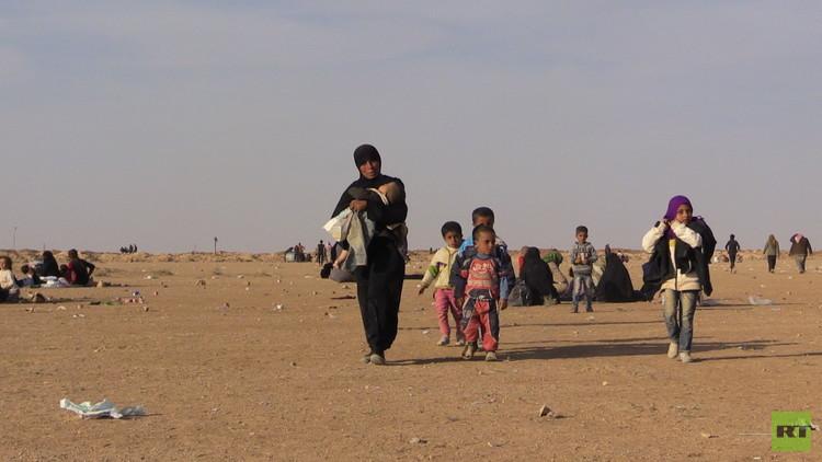كاميرا RT ترصد عمليات النزوح من الموصل