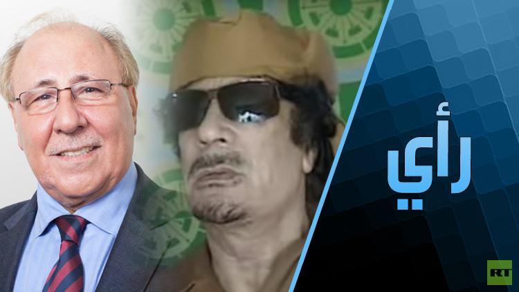كواليس آخر مقابلة تلفزيونية حية مع القذافي!