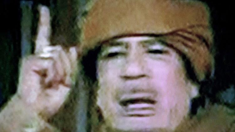 القذافي يودع أسرته ويوصيها قبل مقتله!
