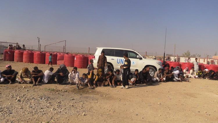 بالصور.. تدفق اللاجئين العراقيين إلى مخيم الهول
