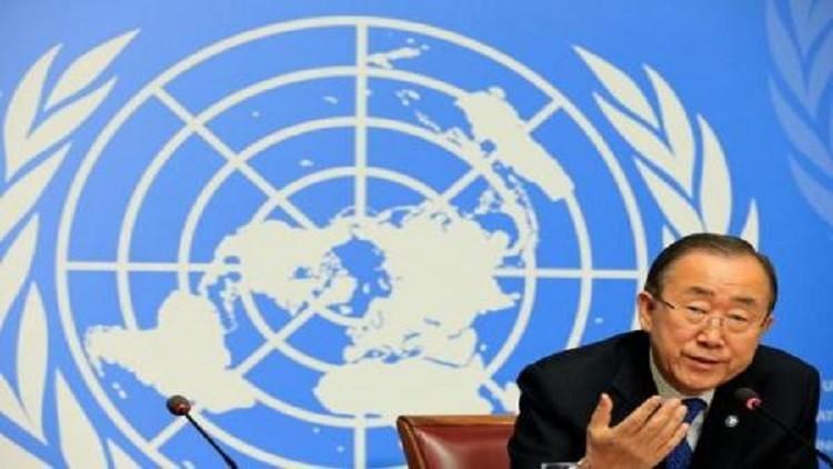 بان كي مون يدعو لجلسة طارئة بشأن سوريا