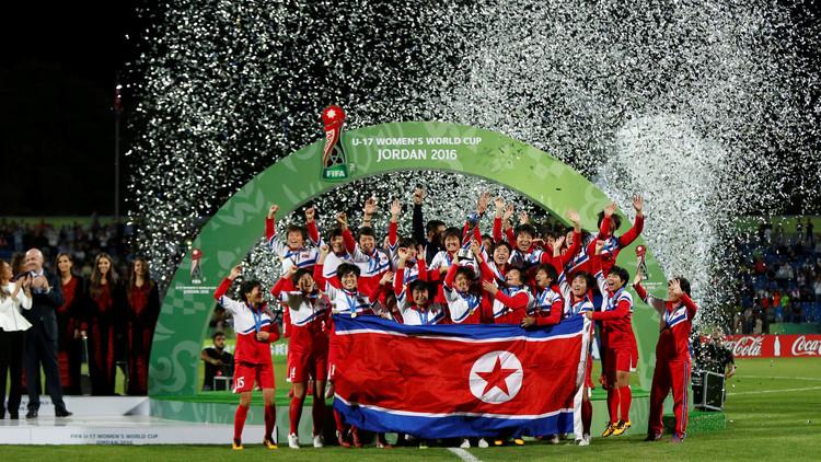 بالفيديو.. كوريا الشمالية تتوج بكأس العالم لكرة القدم
