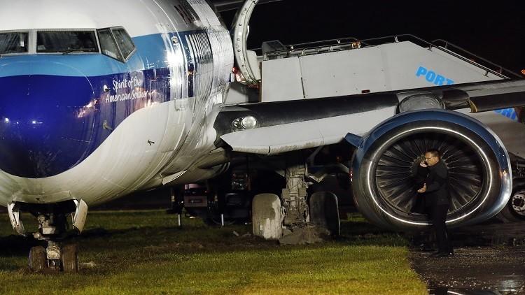 انزلاق طائرة المرشح الجمهوري لمنصب نائب ترامب