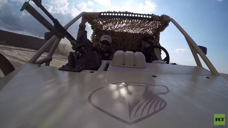 قادروف يختبر سيارة