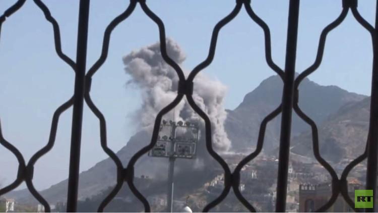 مقتل 10 يمنيين بغارة للتحالف العربي على تعز