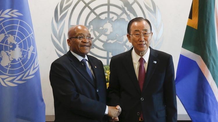 بان يطلب من زوما عدم الانسحاب من الجنائية الدولية