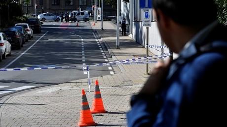 موقع الهجوم على الشرطيين في بروكسل