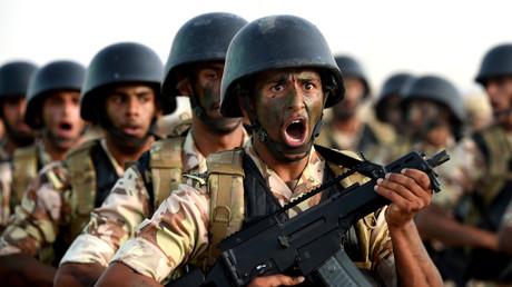 قوات خاصة سعودية خلال عرض عسكري في الرياض - 2015