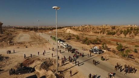 ممر إنساني في شمال مدينة حلب السورية