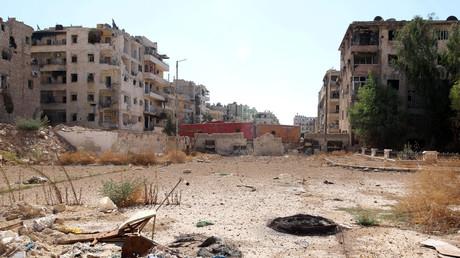 صورة من حي بستان القصر بحلب