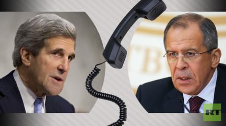 لافروف وكيري يتفقان على مواصلة الخبراء من الجانبين بحث سبل تطبيع الوضع في حلب