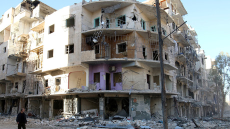 مشهد من مدينة حلب السورية