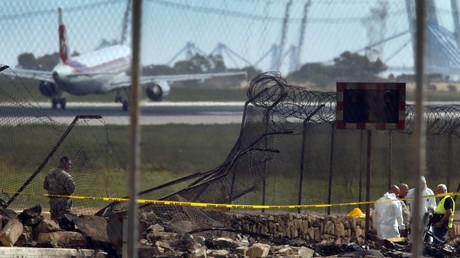 مكان كارثة طائرة مالطا
