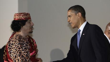 اوباما والقذافي