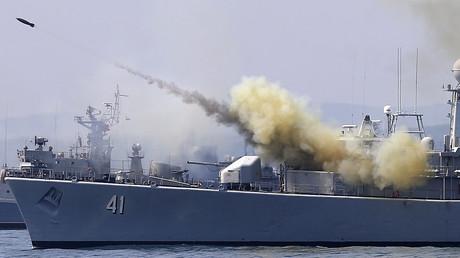 فرقاطة بلغارية في البحر الأسود