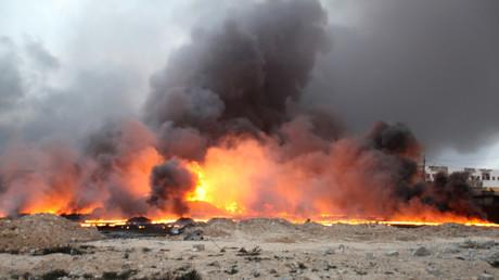 داعش يحرق آبار النفط لتعطيل عملية تحرير الموصل